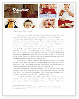 Medical: Sweet Snacks Letterhead Template #06170