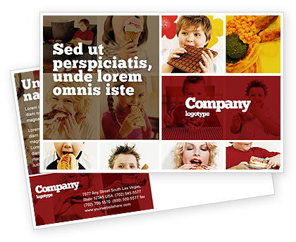 Medical: Sweet Snacks Postcard Template #06170
