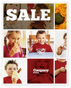 Medical: Sweet Snacks Sale Poster Template #06170