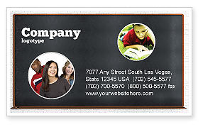 Blackboard Business Card Template, 06184, Education & Training — PoweredTemplate.com