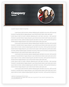 Blackboard Letterhead Template, 06184, Education & Training — PoweredTemplate.com