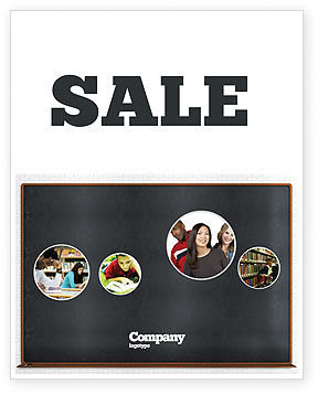 Blackboard Sale Poster Template, 06184, Education & Training — PoweredTemplate.com