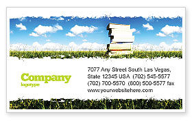 Education & Training: Book Pile Business Card Template #06195