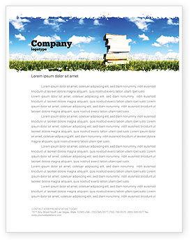 Book Pile Letterhead Template, 06195, Education & Training — PoweredTemplate.com