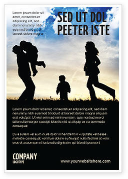 People: Familie Geluk Advertentie Template #06199