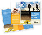 People: Family Happiness Brochure Template #06199