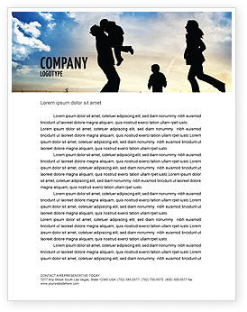 People: Family Happiness Letterhead Template #06199
