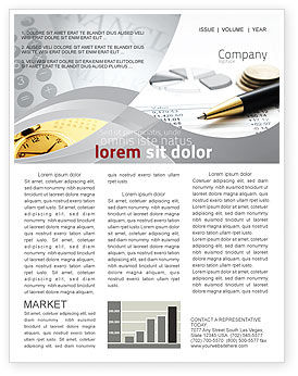 Financial/Accounting: Budgeting Newsletter Template #06201