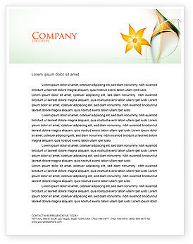 Lines Letterhead Template, 06206, Abstract/Textures — PoweredTemplate.com