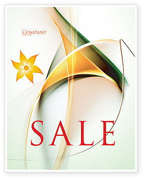 Lines Sale Poster Template, 06206, Abstract/Textures — PoweredTemplate.com