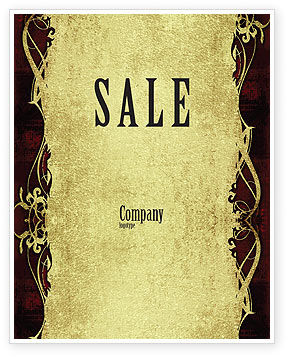 Abstract/Textures: Faded Ornament Sale Poster Template #06215