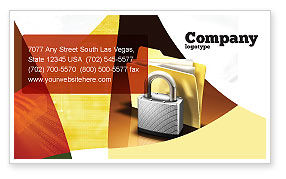 Careers/Industry: Secure Data Business Card Template #06217