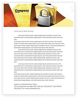 Careers/Industry: Secure Data Letterhead Template #06217