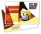 Careers/Industry: Secure Data Postcard Template #06217