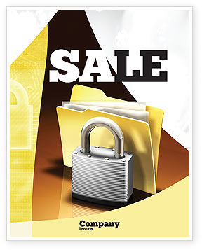 Secure Data Sale Poster Template, 06217, Careers/Industry — PoweredTemplate.com