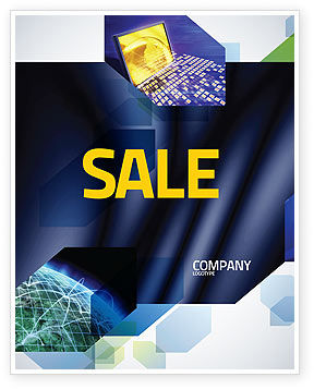 Modern Computer Design Sale Poster Template, 06223, Abstract/Textures — PoweredTemplate.com