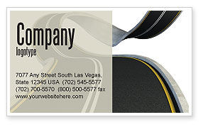 Construction: High Way Business Card Template #06225