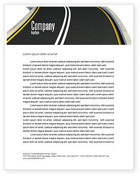 Construction: High Way Letterhead Template #06225