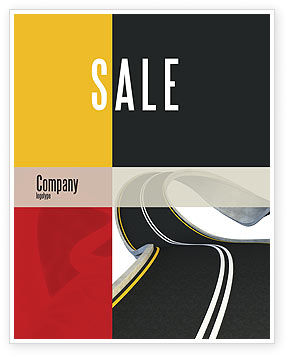 Construction: High Way Sale Poster Template #06225