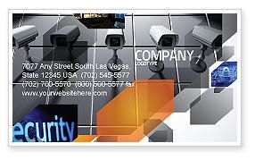 Modèle de Carte de visite de caméra de surveillance, 06226, Carrière / Industrie — PoweredTemplate.com