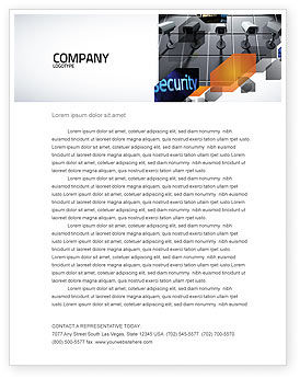 Careers/Industry: Monitoring Camera Letterhead Template #06226