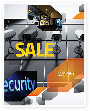 Careers/Industry: Monitoring Camera Sale Poster Template #06226