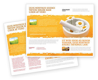 Herbal Medicine Brochure Template, 06227, Medical — PoweredTemplate.com