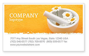 Herbal Medicine Business Card Template