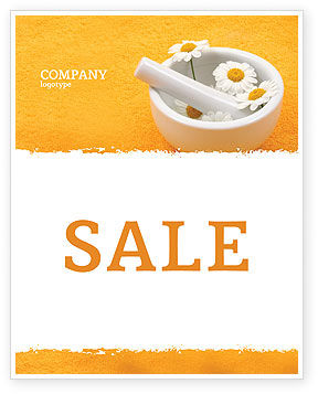 Herbal Medicine Sale Poster Template