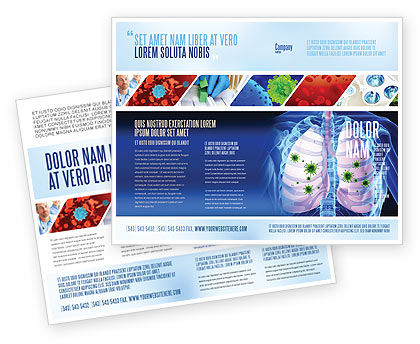 Pulmonology Brochure Template, 06243, Medical — PoweredTemplate.com