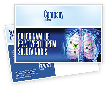Medical: Pulmonology Postcard Template #06243
