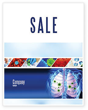 Pulmonology Sale Poster Template, 06243, Medical — PoweredTemplate.com