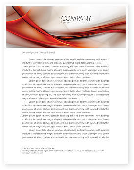 Abstract Veil Letterhead Template