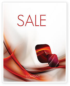 Abstract Veil Sale Poster Template, 06248, Abstract/Textures — PoweredTemplate.com