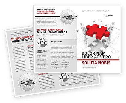 Handling Brochure Template, 06255, Consulting — PoweredTemplate.com