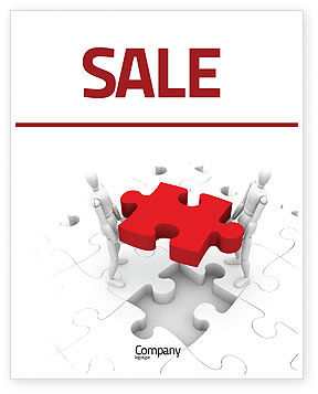 Handling Sale Poster Template, 06255, Consulting — PoweredTemplate.com