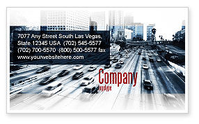 Cars/Transportation: City Highway Business Card Template #06261