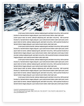 Cars/Transportation: City Highway Letterhead Template #06261