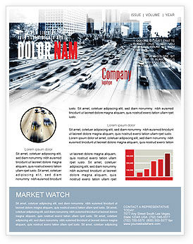 Cars/Transportation: City Highway Newsletter Template #06261