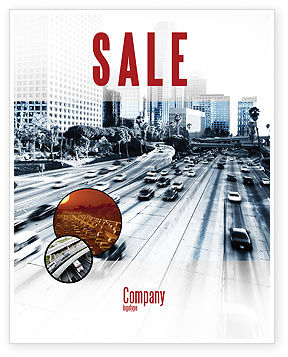 City Highway Sale Poster Template
