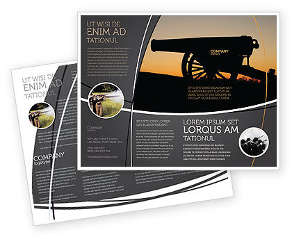 Alamo Sunset Brochure Template, 06269, Military — PoweredTemplate.com