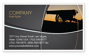 Military: Alamo Sunset Business Card Template #06269
