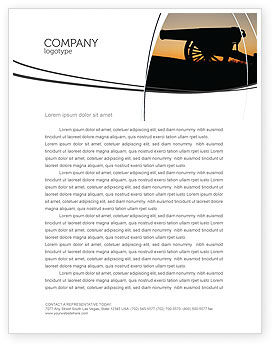 Military: Alamo Sunset Letterhead Template #06269