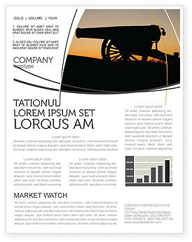 Military: Alamo Sunset Newsletter Template #06269