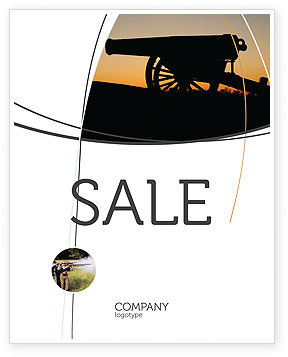 Military: Alamo Sunset Sale Poster Template #06269