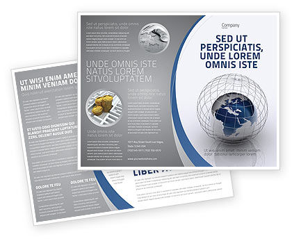 World Outlook Brochure Template, 06277, Global — PoweredTemplate.com