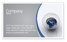 Global: World Outlook Business Card Template #06277