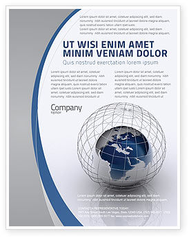 World Outlook Flyer Template, 06277, Global — PoweredTemplate.com