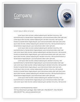 Global: World Outlook Letterhead Template #06277