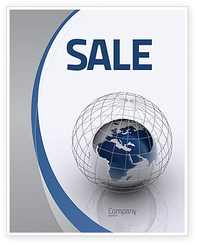 Global: World Outlook Sale Poster Template #06277